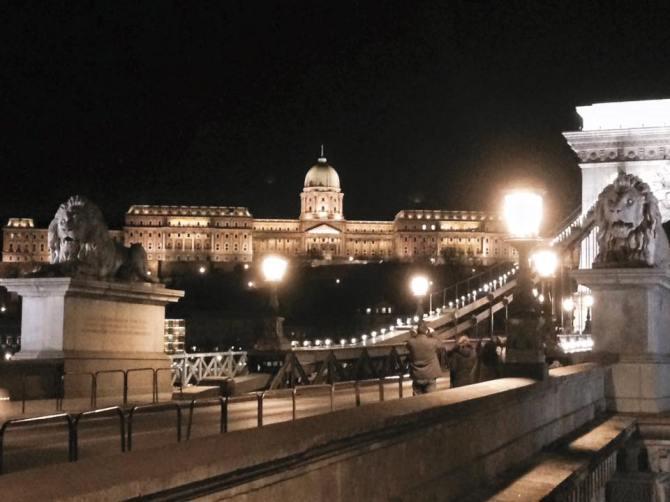 Pont des chaînes Széchenyi de nuit