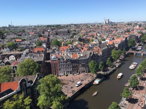 Vue panoramique sur Amsterdam (Westerkerk)