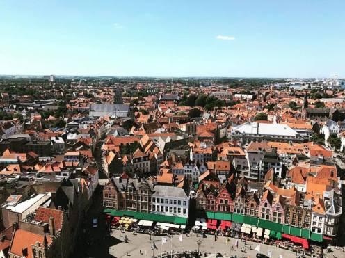 Vue panoramique Bruges