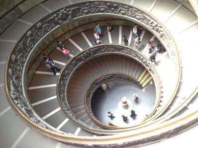 le Célèbre escalier intérieur