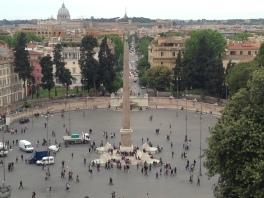 Piazza del Popolo (depuis la Villa Borghèse)