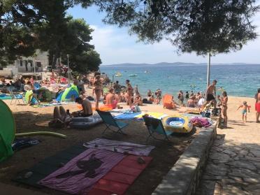 Les plages croates en haute saison