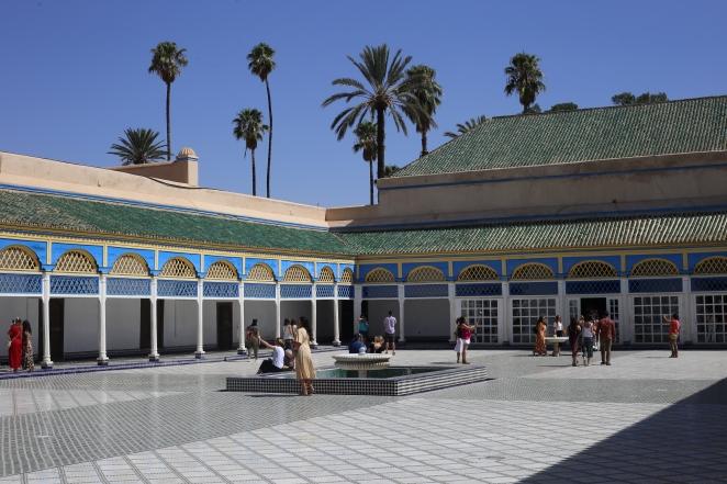 """La cour intérieure du """"Palais de la Bahia"""""""