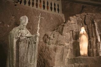 Chapelle Sainte-Cunégonde ou Ste Kinga, statue du pape Jean Paul