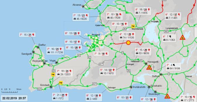 Info trafic Islande