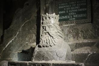 Statue de Roi Kazimierz le Grand des Mines de sel de Wieliczka