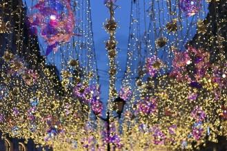 Les illuminations de la rue Nikolskaya (Moscou)