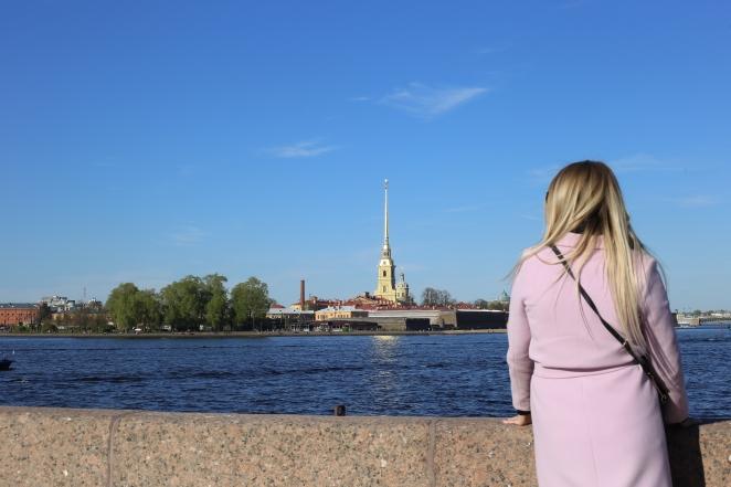La forteresse Pierre-et-Paul de St-Petersbourg