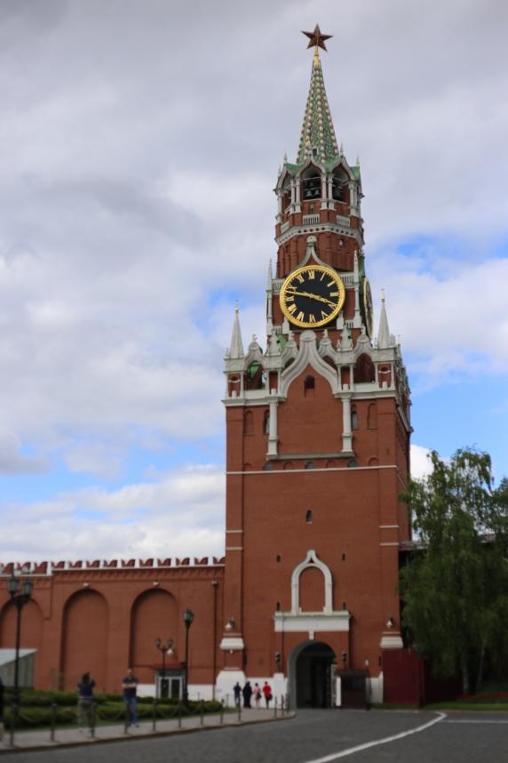 La tour Spasskaïa du Kremlin à Moscou