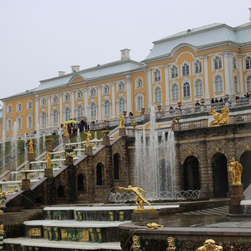Les fontaines de Peterhof St-Petersbourg