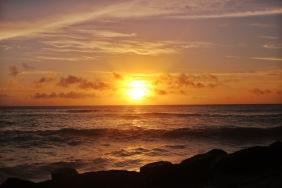 Couché du soleil à Anse Kerlan - Praslin