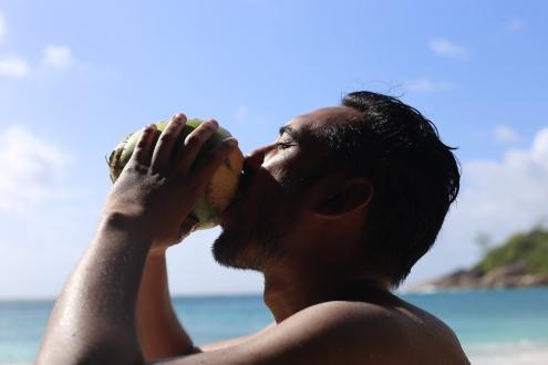 Seychelles - Coconut juice