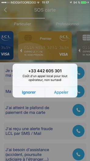 appli bancaire assistance étranger